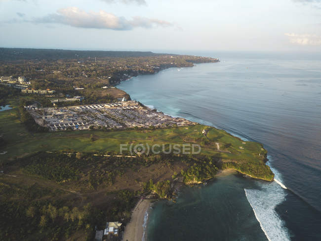 Indonesia, Bali, Aerial view of Balangan beach — Foto stock