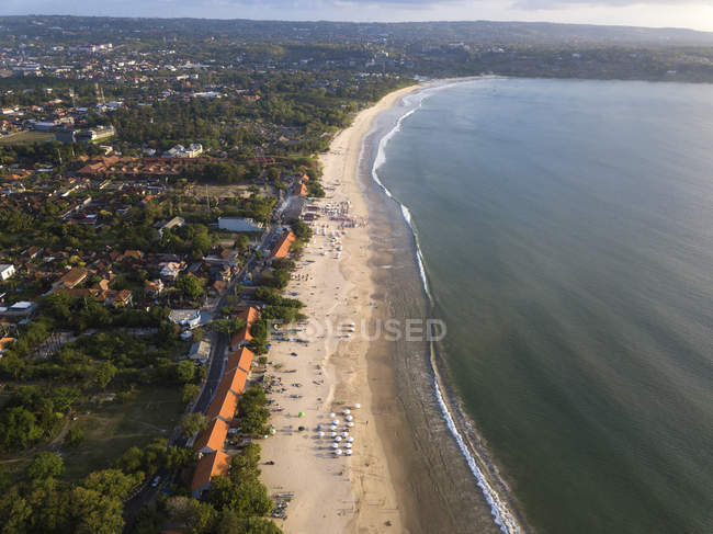 Indonesia, Bali, Aerial view of Jimbaran beach — Fotografia de Stock