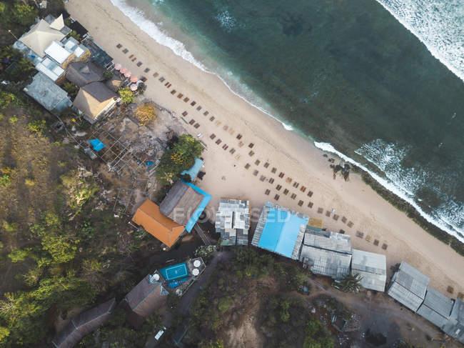 Indonesia, Bali, Veduta aerea della spiaggia di Balangan dall'alto — Foto stock
