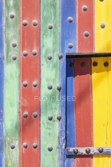 Morocco, an old colored door — Stock Photo