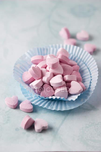Primer plano de Sherbet Powder Hearts - foto de stock