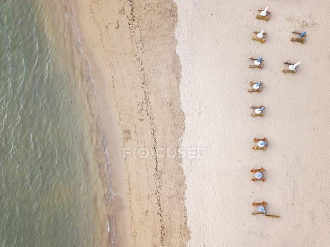 Indonesia, Bali, Veduta aerea della spiaggia di Sanur — Foto stock