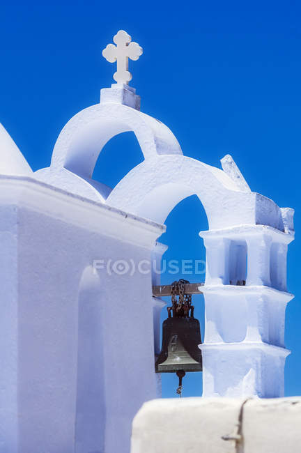 Greece, Chora, church bell at daytime — стоковое фото