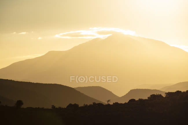 Южная Африка, Роойберг, горные пейзажи утром — стоковое фото