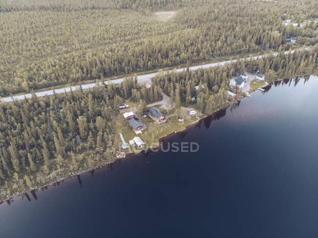 Svezia, Kiruna, Veduta aerea delle case — Foto stock