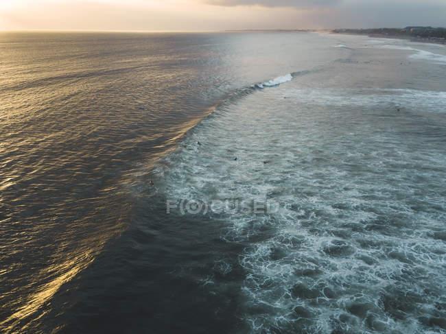 Indonesia, Bali, Aerial view of Padma beach at sunset — Stock Photo