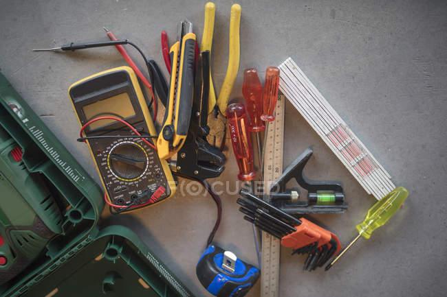 Werkzeuge und Messgerät aus nächster Nähe — Stockfoto