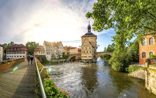 Allemagne, Bavière, Bamberg, Vieille ville, ancienne mairie — Photo de stock