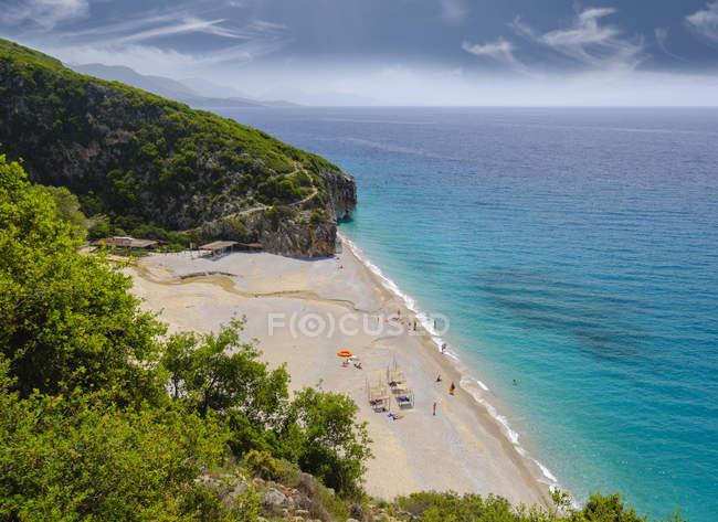 Albânia, mar Ionean, Riviera Albanian, praia de Gjipe — Fotografia de Stock