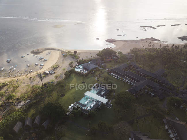 Indonesia, Bali, Aerial view of Nusa Dua beach — Foto stock