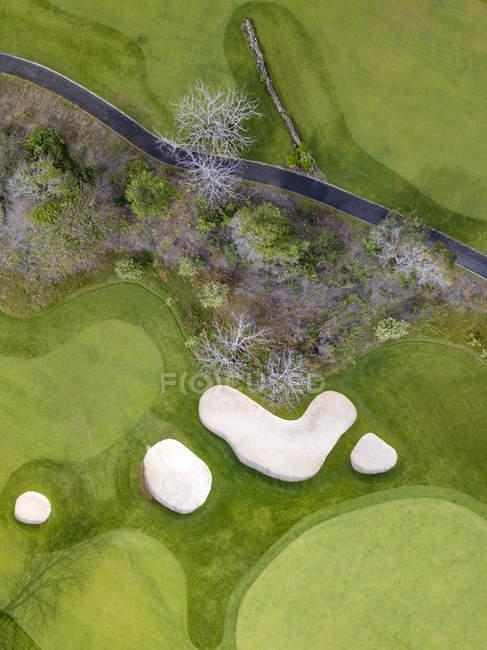Indonesien, Bali, Luftaufnahme des Golfplatzes — Stockfoto