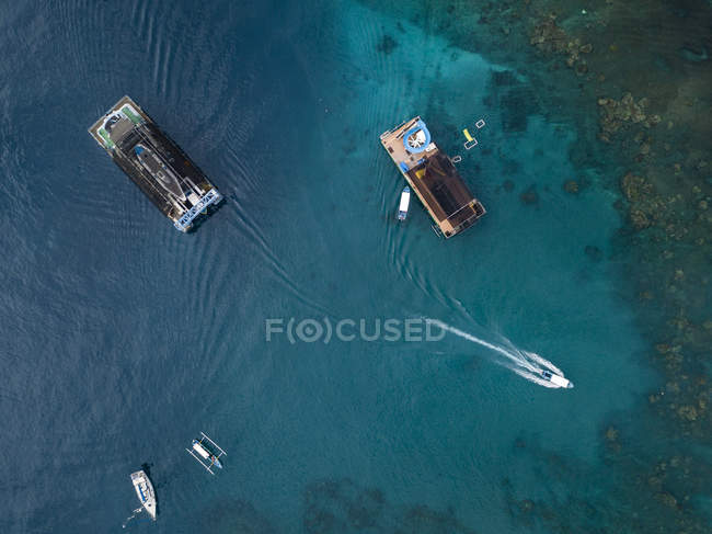 Indonesia, Bali, Aerial view of bathing platform — Stock Photo