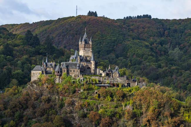 Germany, Rhineland-Palatinate, Cochem, Cochem castle — Stock Photo
