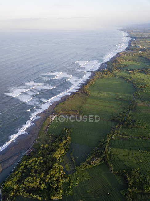 Indonesia, Bali, Kedungu, Veduta aerea della spiaggia di Kedungu — Foto stock