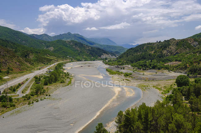Albania, Lezhe County, near Rubik, Fan river — Fotografia de Stock
