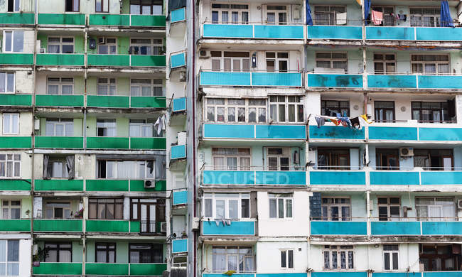 Georgia, Adjara, Batumi, Old apartment building, close up — Stock Photo