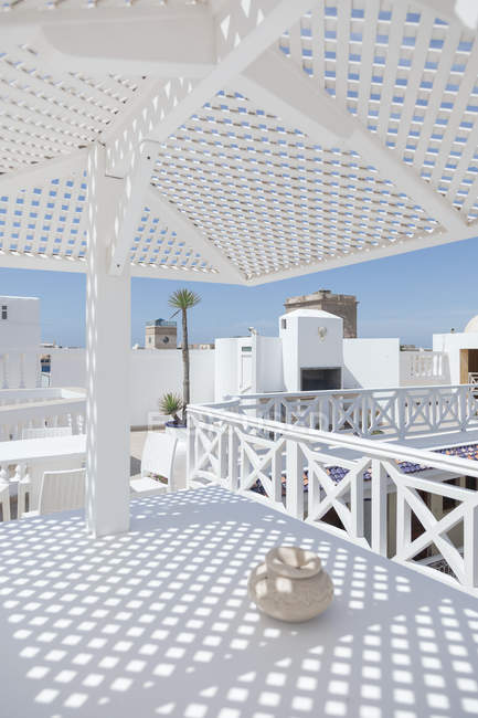 Morocco, empty restaurant at daytime — Stock Photo