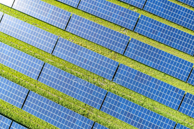Aerial view of photovoltaic plant — Stock Photo