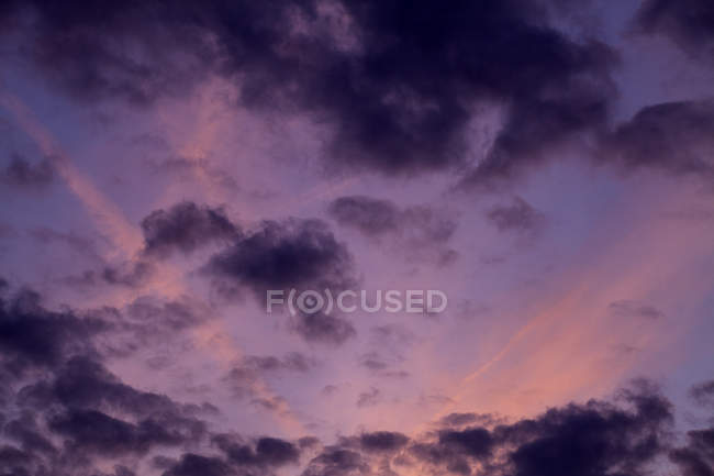 Cloudscape at the colorful sunset — Stock Photo