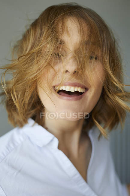 Portrait of laughing woman — Stock Photo