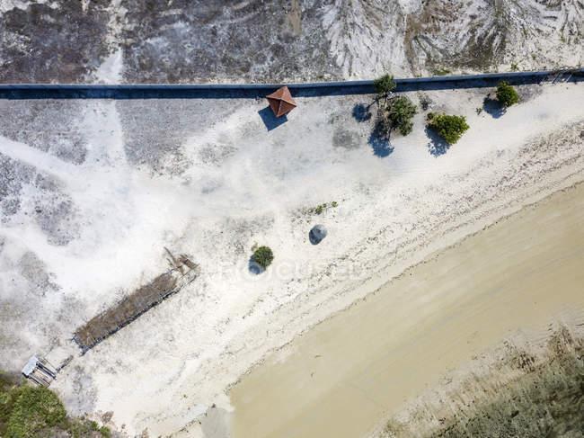 Indonésie, Vue aérienne de Lombok, plage d'en haut — Photo de stock