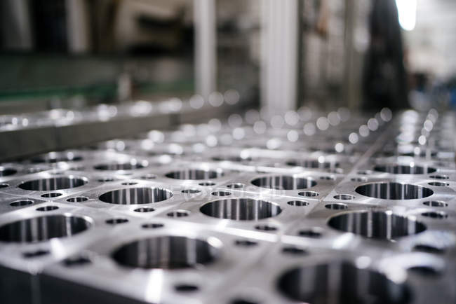 Stainless steel form in a factory — Stock Photo