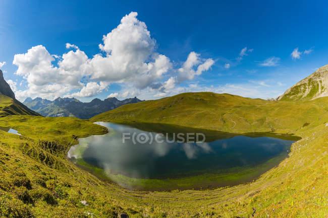 Germany, Bavaria, Allgaeu, Allgaeu Alps, Lake Rappensee, right Rappensee hut — Fotografia de Stock