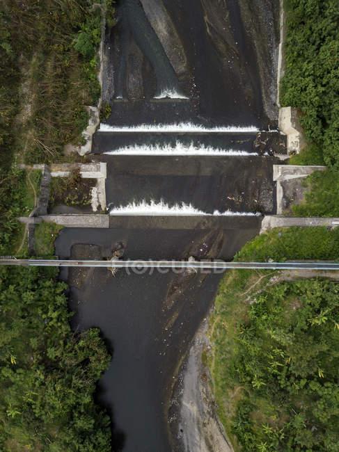 Indonésia, Bali, vista aérea da ponte e do Rio — Fotografia de Stock