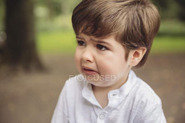 Портрет плачущего малыша — стоковое фото