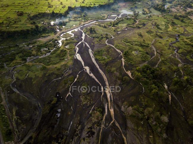 Indonésia, Bali, vista aérea do Rio — Fotografia de Stock