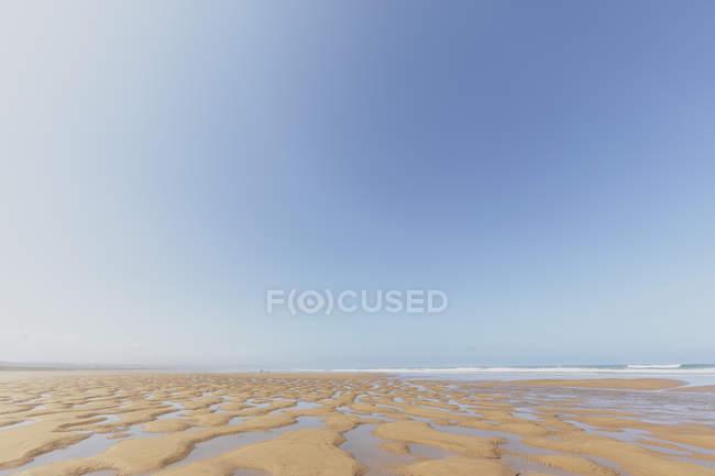Marocco, emtpy spiaggia di sabbia — Foto stock