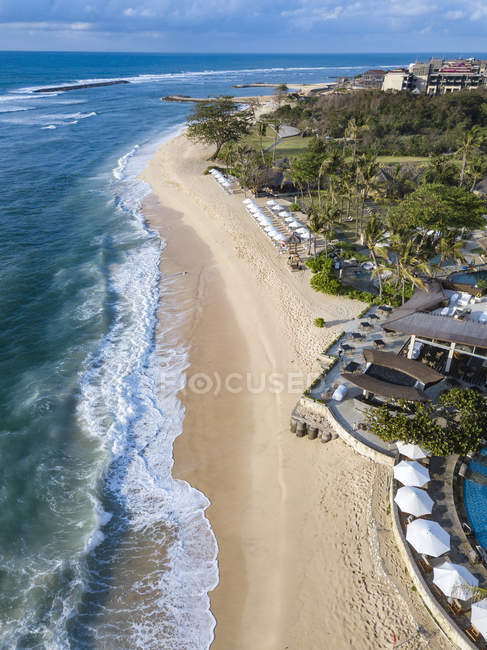 Indonesia, Bali, Nusa Dua, Aerial view of Nikko beach — Foto stock