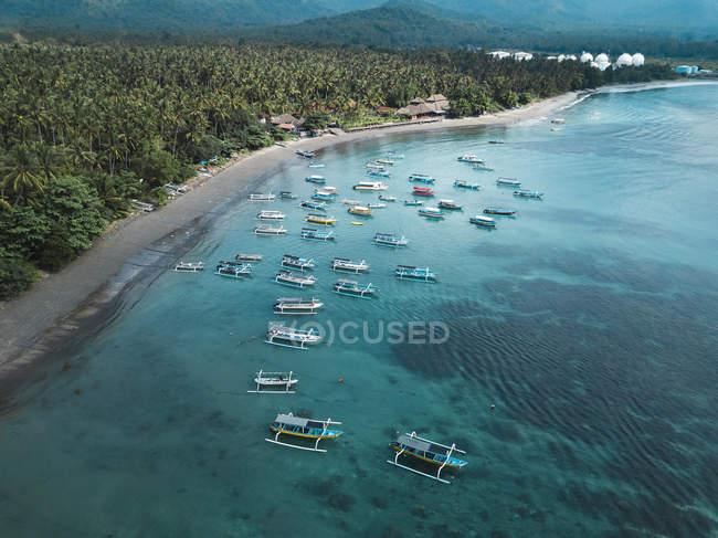 Indonesia, Bali, Veduta aerea della spiaggia — Foto stock