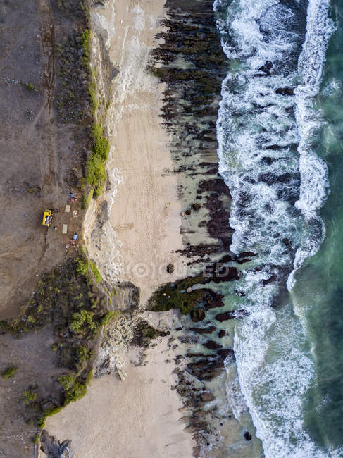 Indonesia, Bali, Aerial view of Dreamland beach from above — Fotografia de Stock