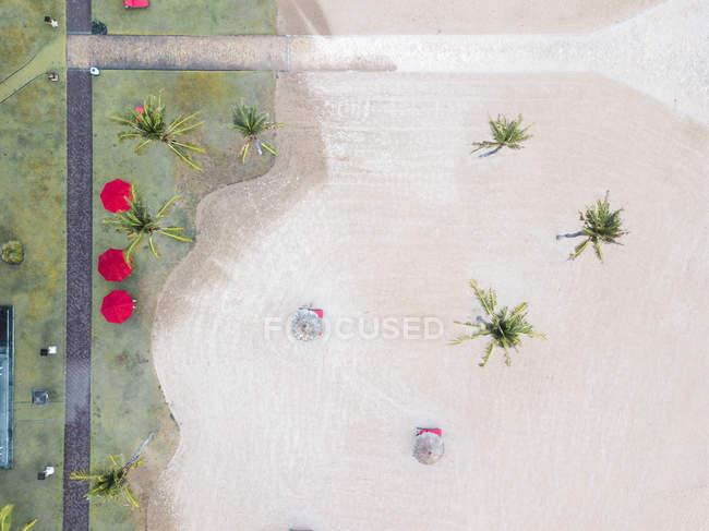 Indonesia, Bali, Veduta aerea della spiaggia di Nusa Dua, dall'alto — Foto stock