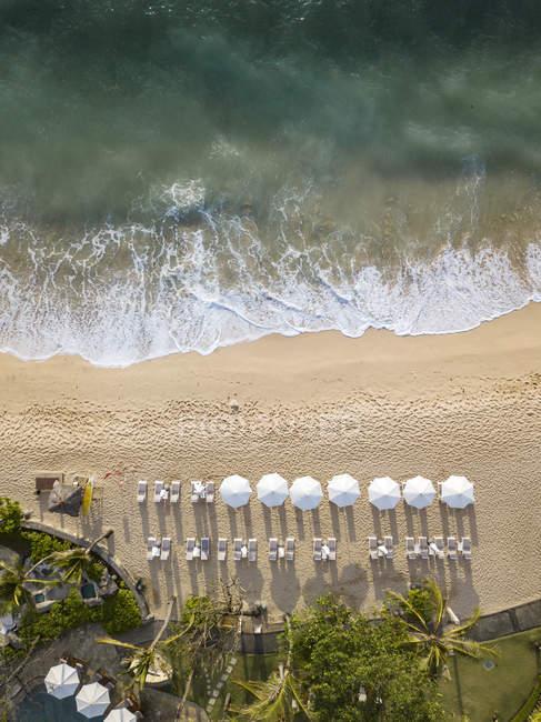 Indonesia, Bali, Nusa Dua, Veduta aerea della spiaggia di Nikko — Foto stock