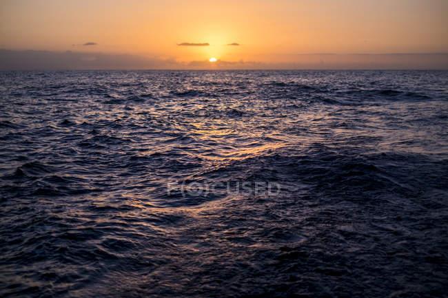 Sunset above the Atlantic Ocean — Stock Photo