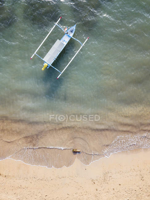 Indonesia, Bali, Aerial view of traditional boat — Stock Photo