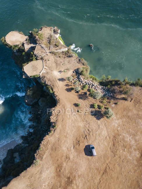 Indonésie, Bali, Vue aérienne de la plage de Balangan, point de vue — Photo de stock