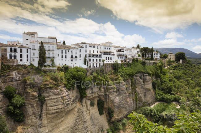 España, Málaga, Ronda con Tajo de Ronda - foto de stock