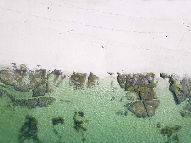 Indonésie, Bali, Vue aérienne de la plage de Melasti — Photo de stock