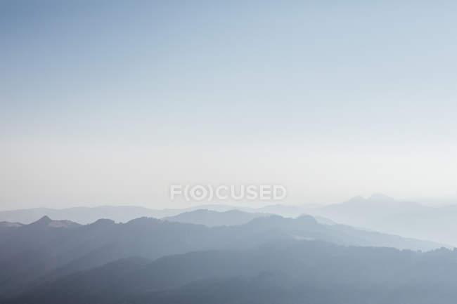 Switzerland, Grosser Mythen, sunrise above alpine landscape — Stock Photo