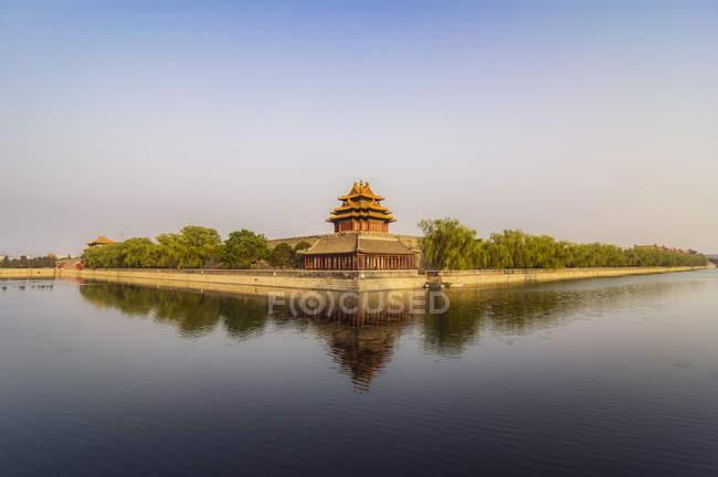 Китай, Пекін, видт вежа Заборонене місто — стокове фото
