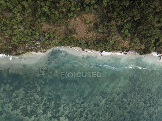 Indonesia, Bali, Veduta aerea della spiaggia di Pandawa — Foto stock