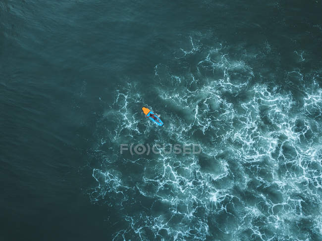 Indonesia, Bali, Aerial view of surfer — Stock Photo