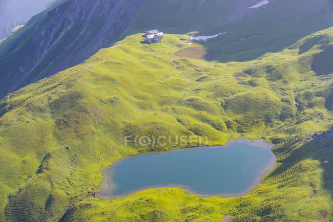 Germany, Bavaria, Allgaeu, Allgaeu Alps, Lake Rappensee, Rappensee hut — Fotografia de Stock