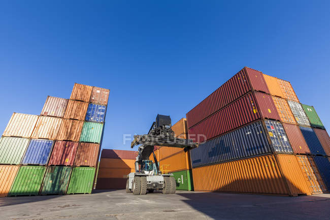 Germany, stacked containers outdoors — Stock Photo