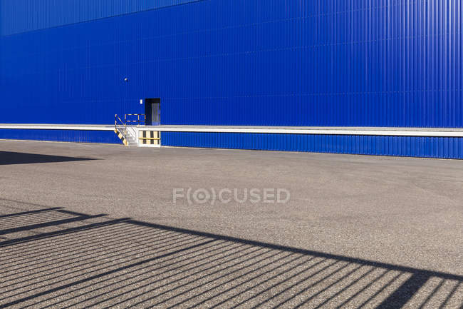 Blue storehouse, partial view — Stock Photo