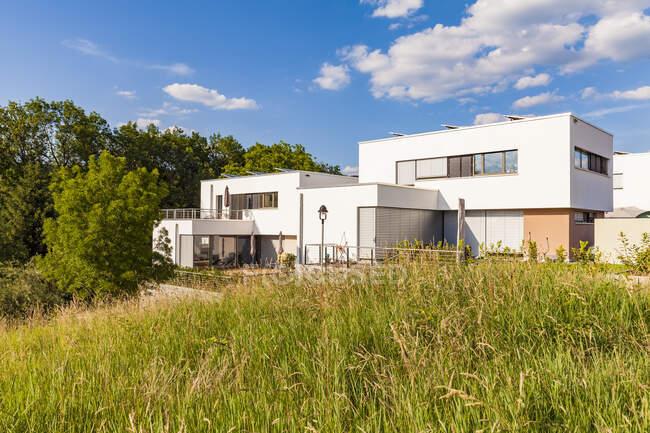 Німеччина, Есслінген-Целл, район розвитку з пасивним будинком. — стокове фото
