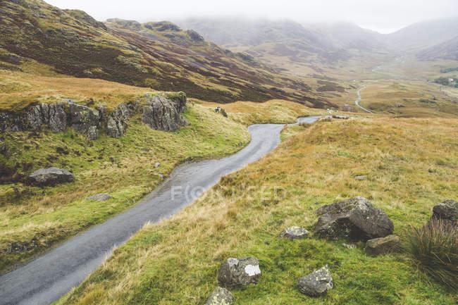 Royaume-Uni, Angleterre, Cumbria, Lake District, Hardknott pass — Photo de stock